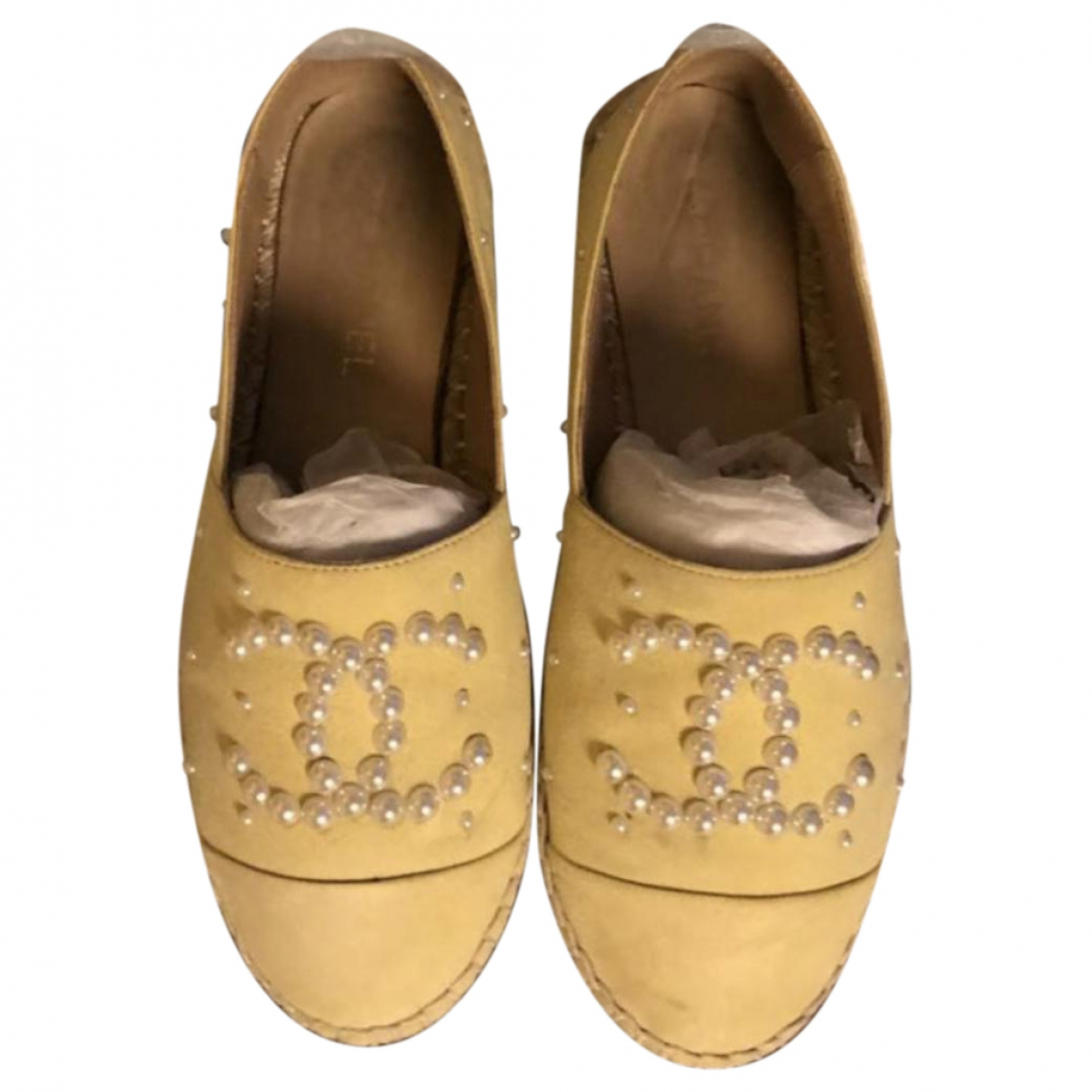 Chanel \N Yellow Suede Espadrilles for Women 37 EU