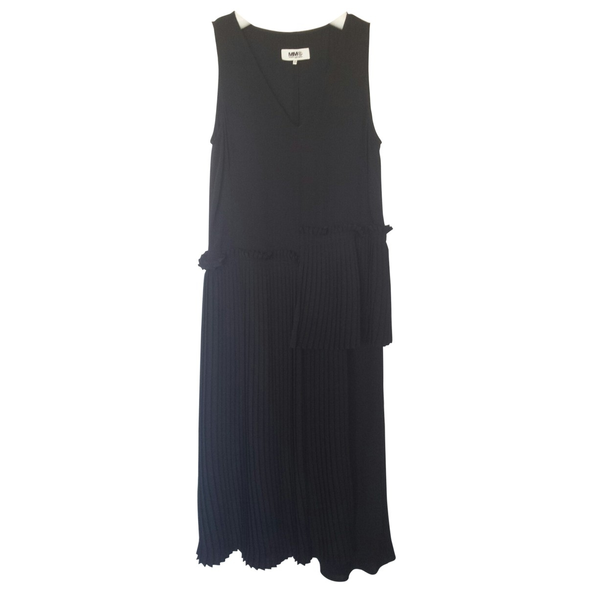 Mm6 \N Kleid in  Schwarz Synthetik