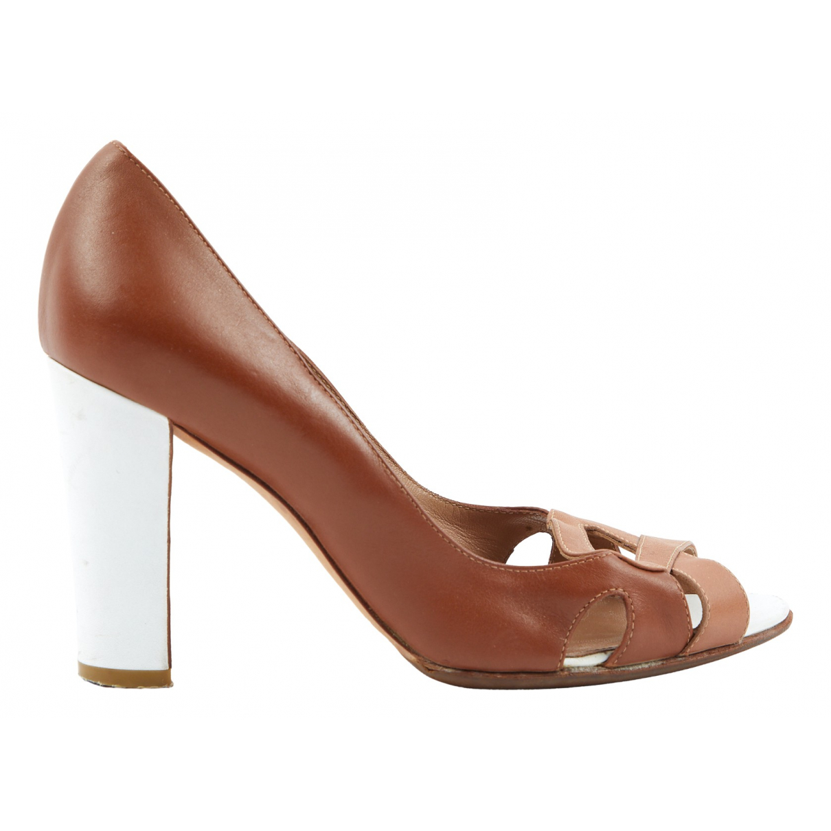Sergio Rossi N Brown Leather Heels for Women 36 EU