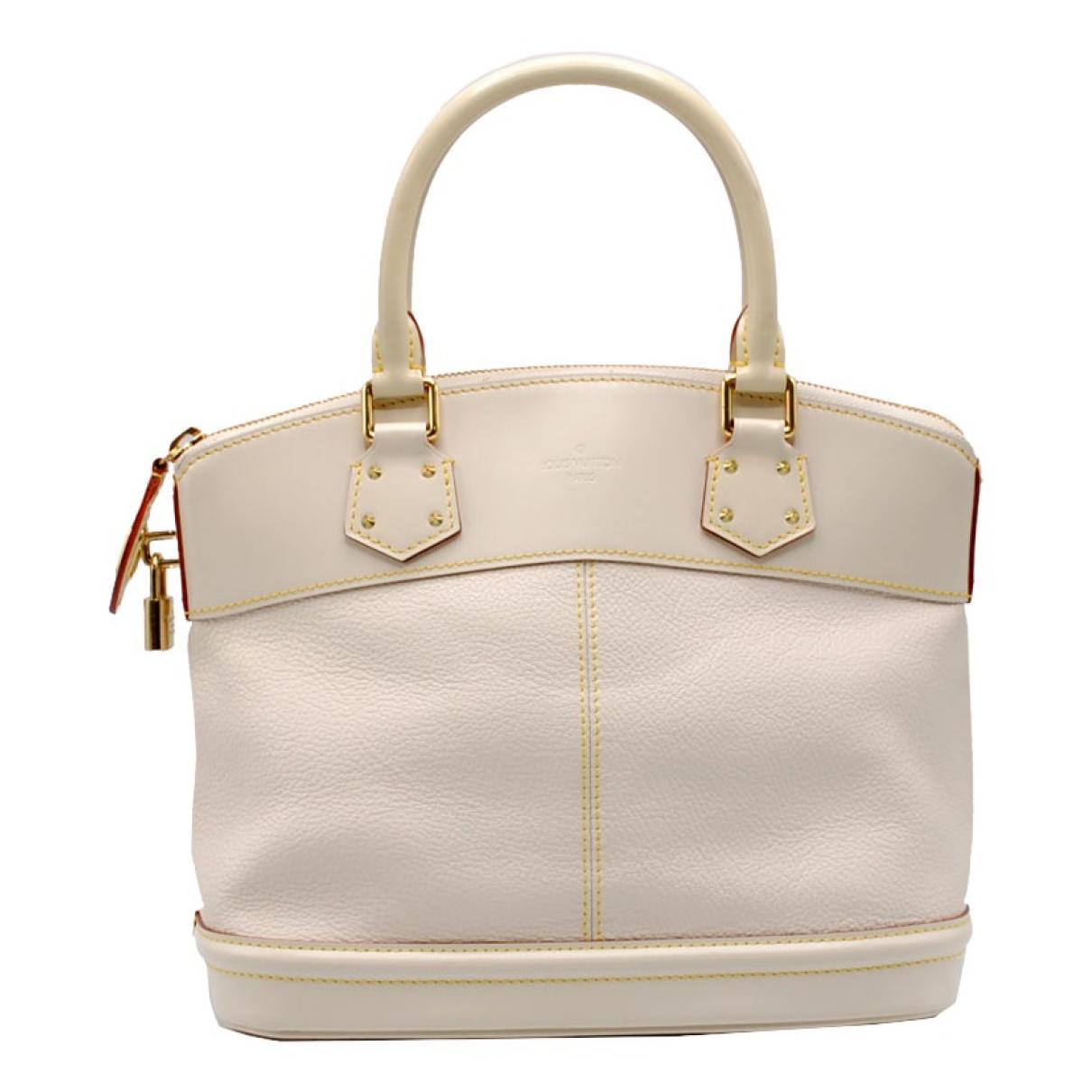 Louis Vuitton - Sac a main Lockit pour femme en cuir - ecru