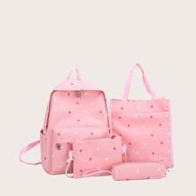 4pcs Ditsy Floral Backpack Set