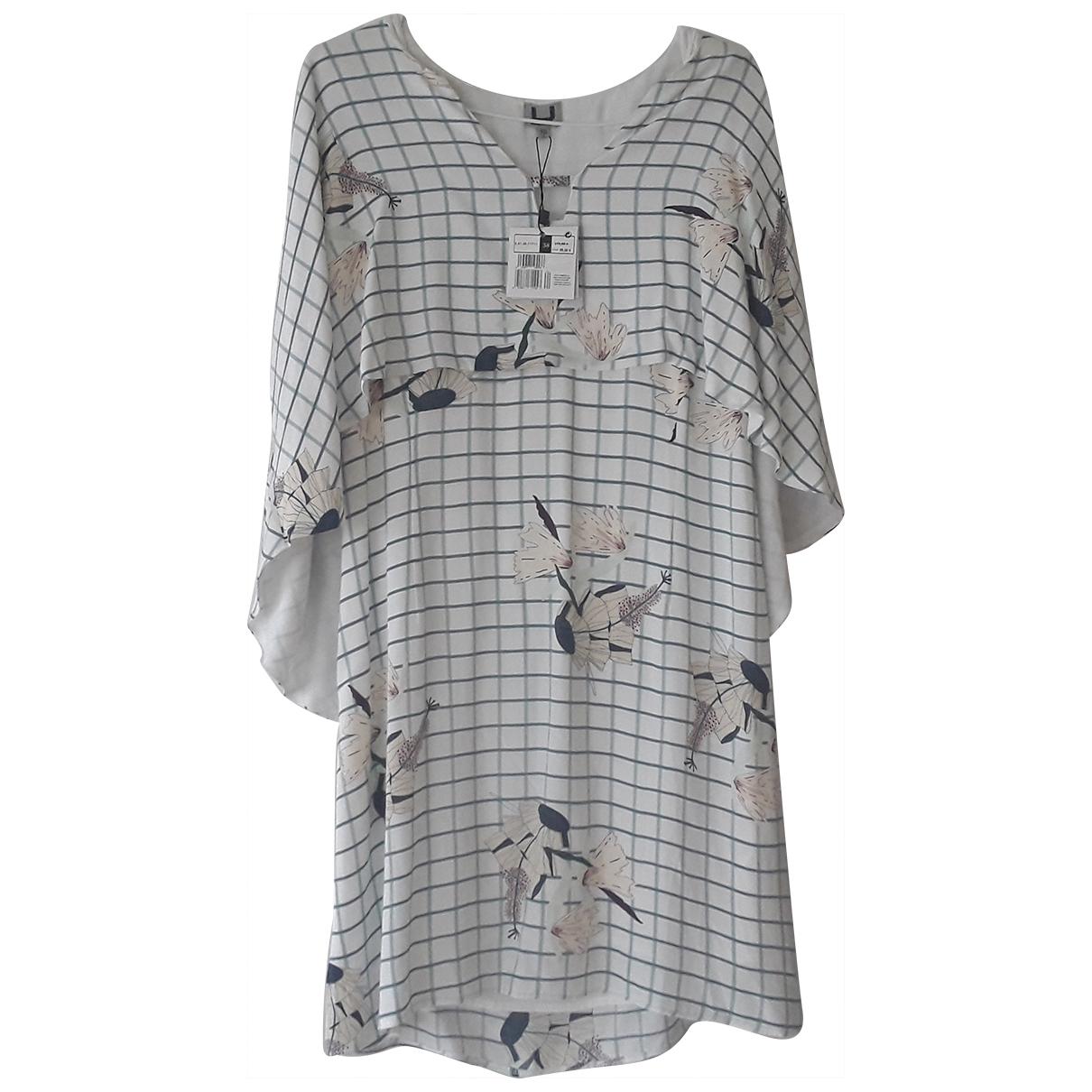Adolfo Dominguez \N White Silk dress for Women 38 FR