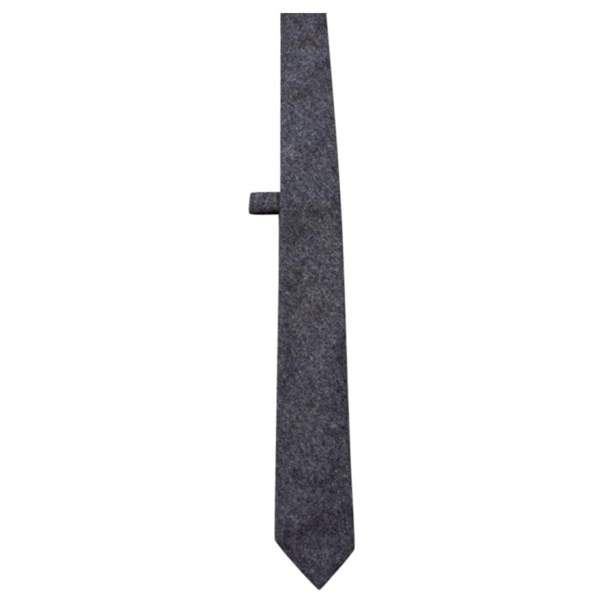 Coast Weber & Ahaus \N Anthracite Wool Ties for Men \N