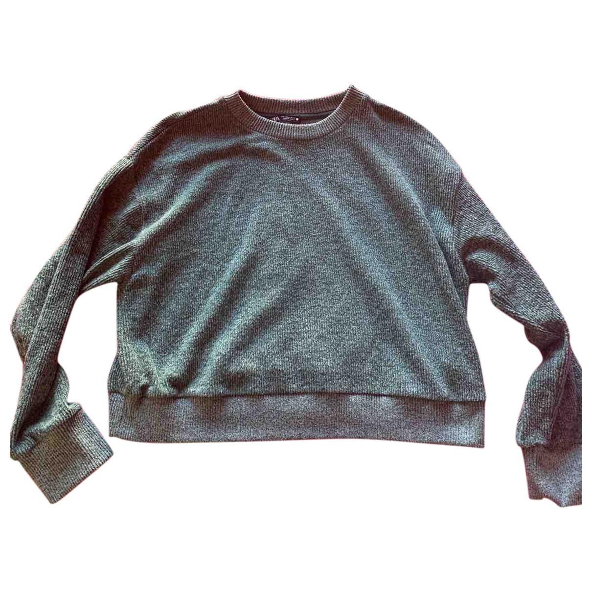 Zara - Pull   pour femme en coton - vert