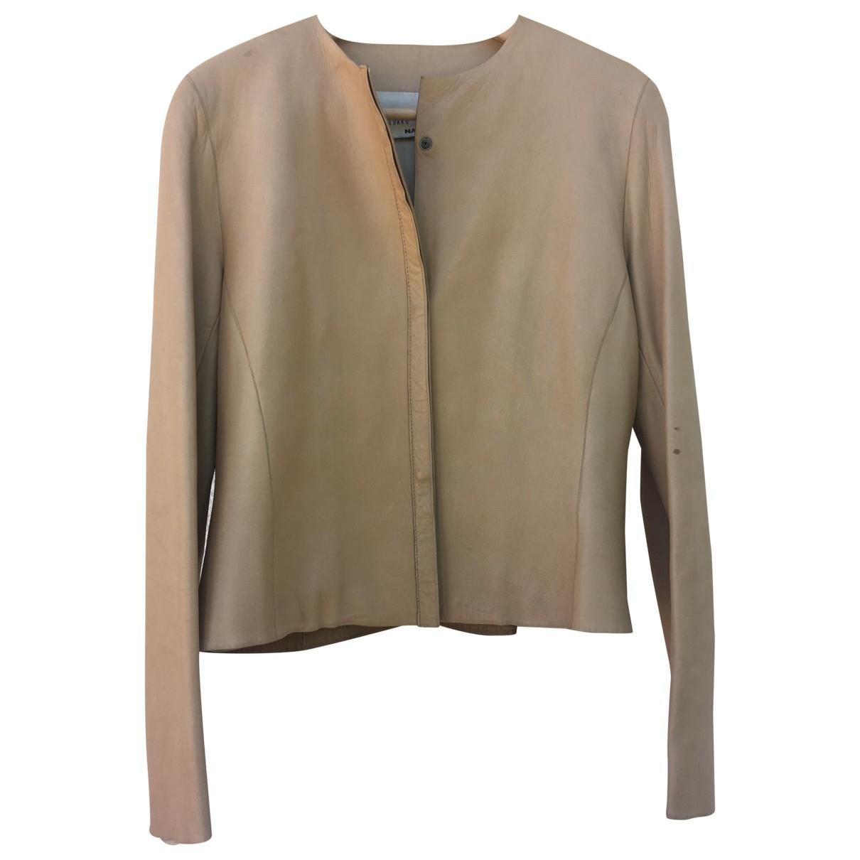 Natan \N Beige Leather jacket for Women One Size FR