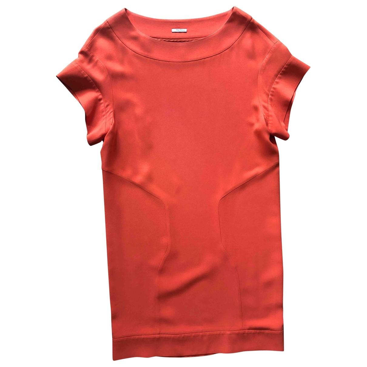 Miu Miu \N Kleid in  Orange Viskose