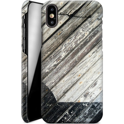Apple iPhone X Smartphone Huelle - Diagonal Wood von Brent Williams