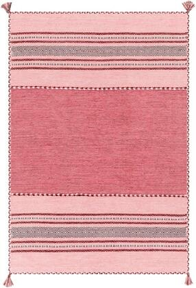 TRZ3005-810 8' x 10' Rug  in Pale Pink and Bright Pink and Blush and White and Rose and Dark