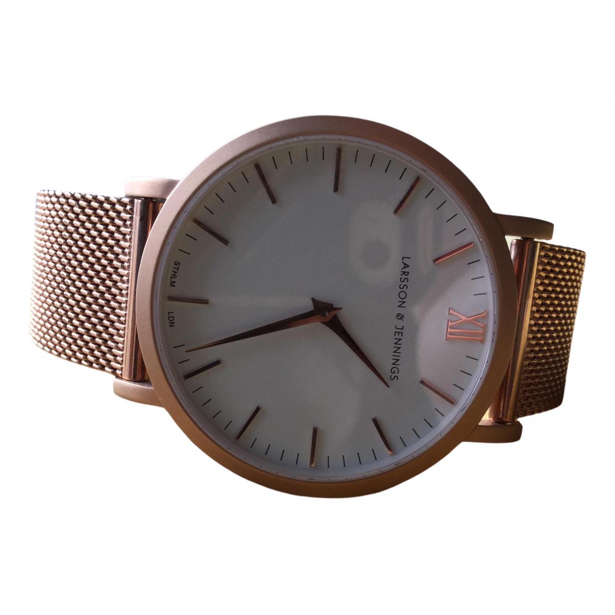 Larsson & Jennings \N Gold Steel watch for Women \N