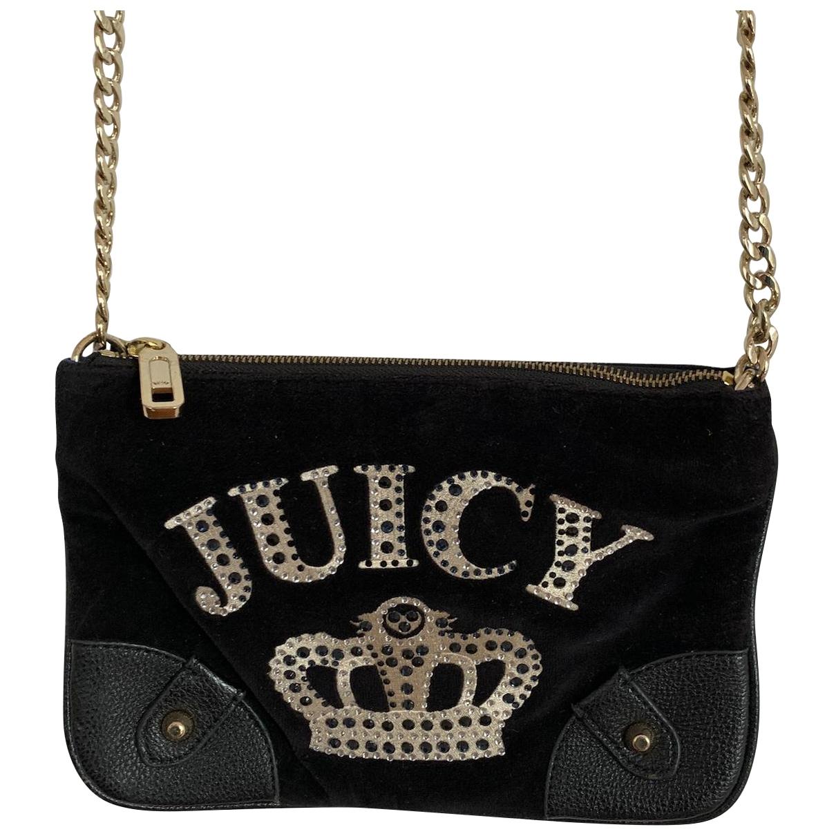Juicy Couture \N Handtasche in  Schwarz Samt