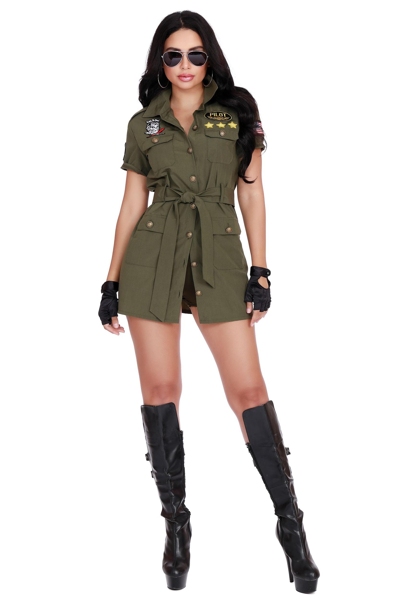 Women's Fighter Pilot Costume
