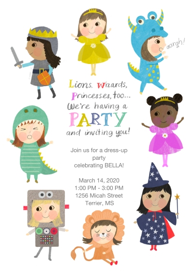 Kids Birthday Party 5x7 Cards, Standard Cardstock 85lb, Card & Stationery -Imagination Celebration Birthday Invitation by Hallmark