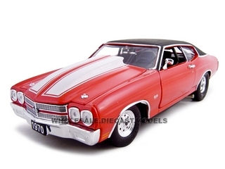 1970 Chevrolet Chevelle SS 454 Pro Street Red 1/24 Diecast Car by Unique Replicas