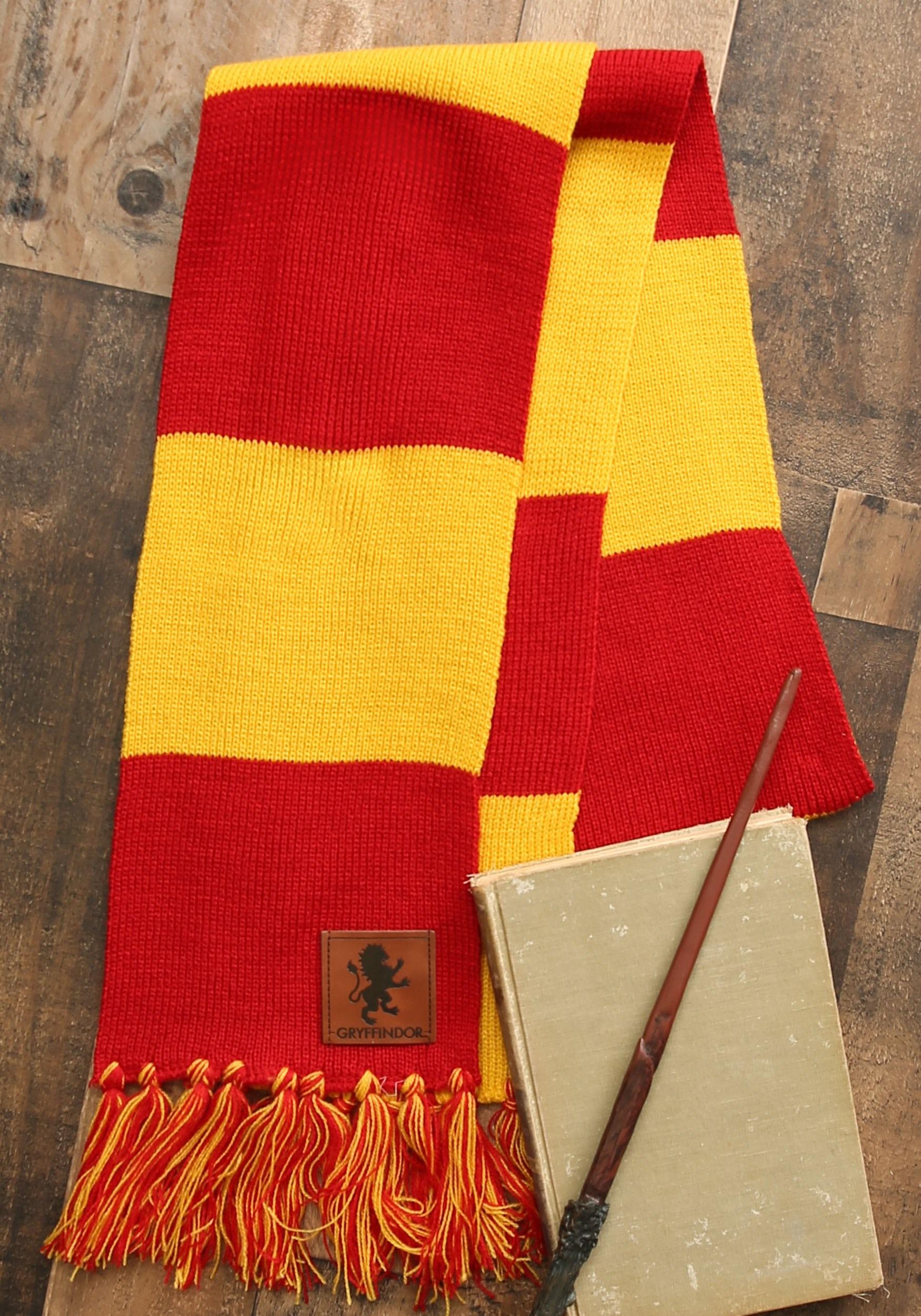 Gryffindor Striped Scarf w/ Patch