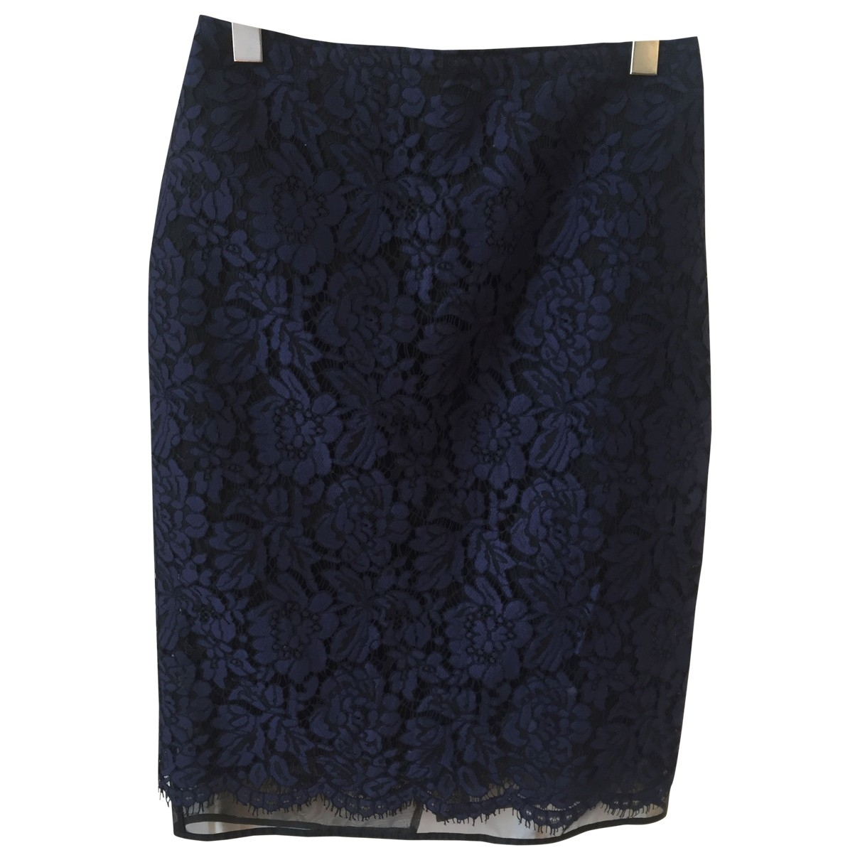 Msgm \N Navy Cotton skirt for Women 42 IT