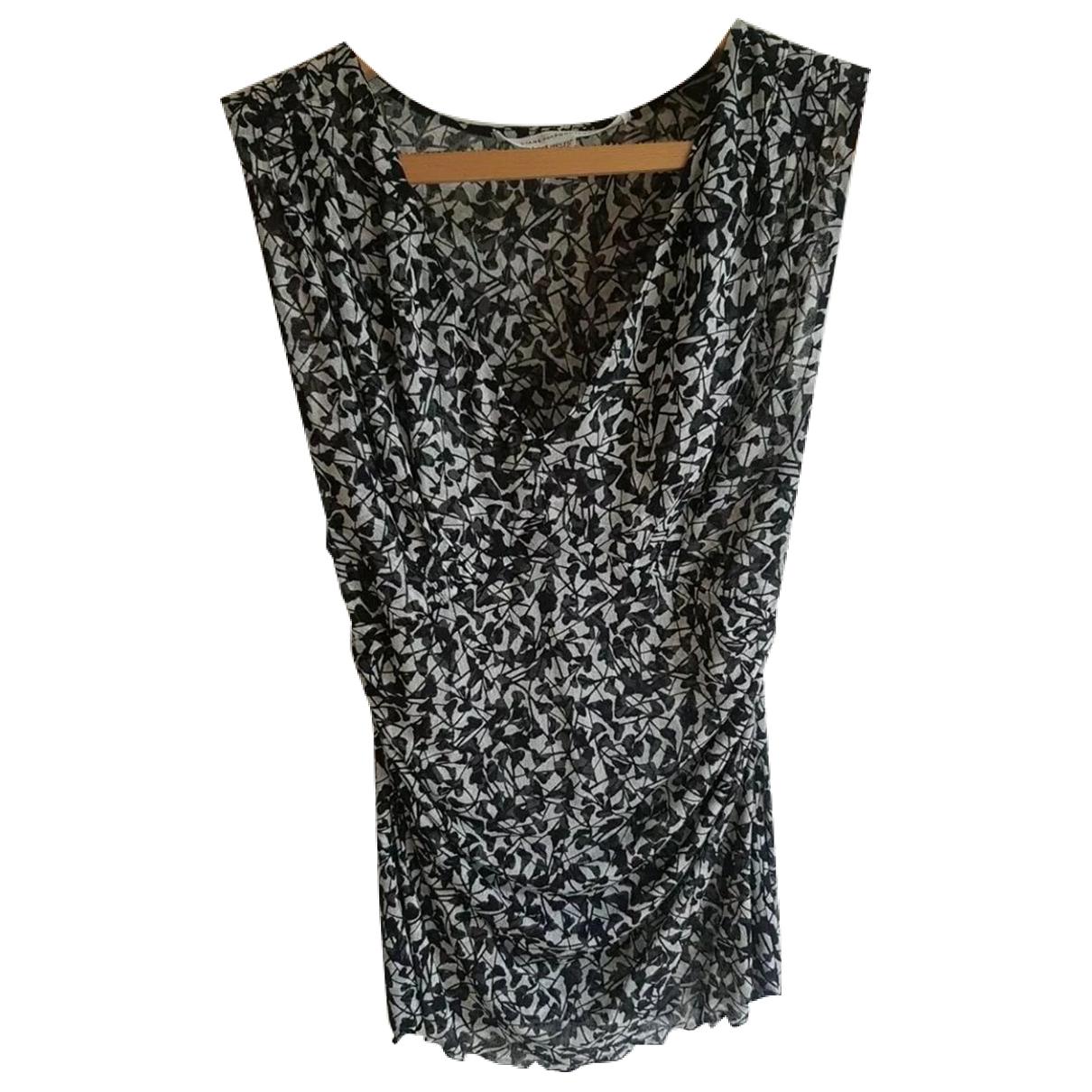 Diane Von Furstenberg \N Black Silk  top for Women 2 US
