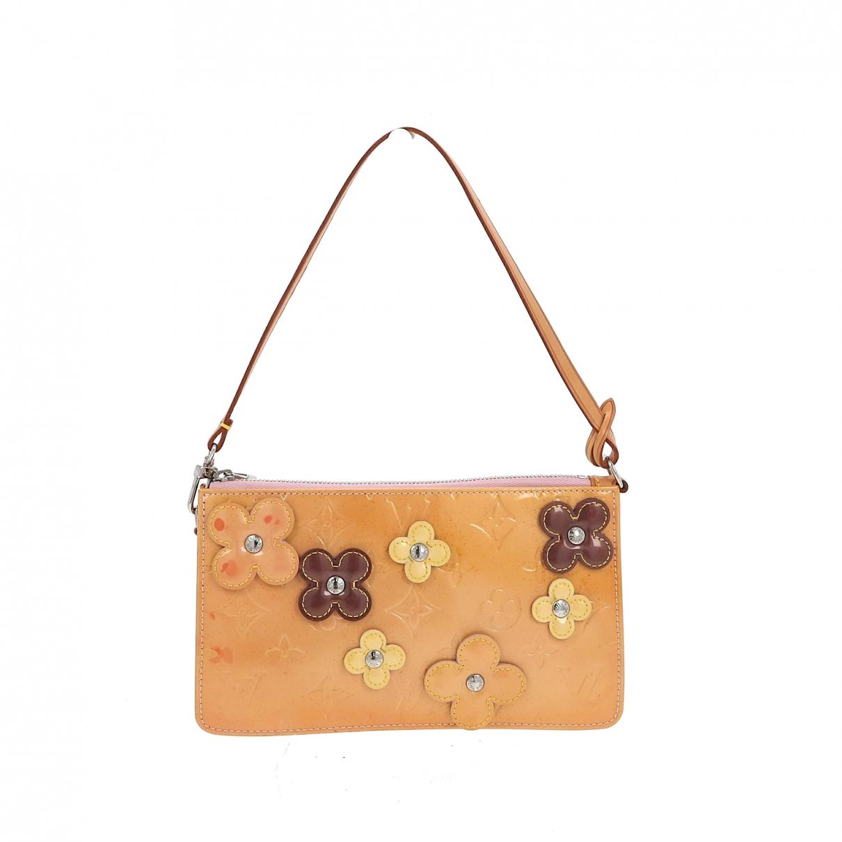 Louis Vuitton - Pochette Lexington pour femme en cuir verni - jaune