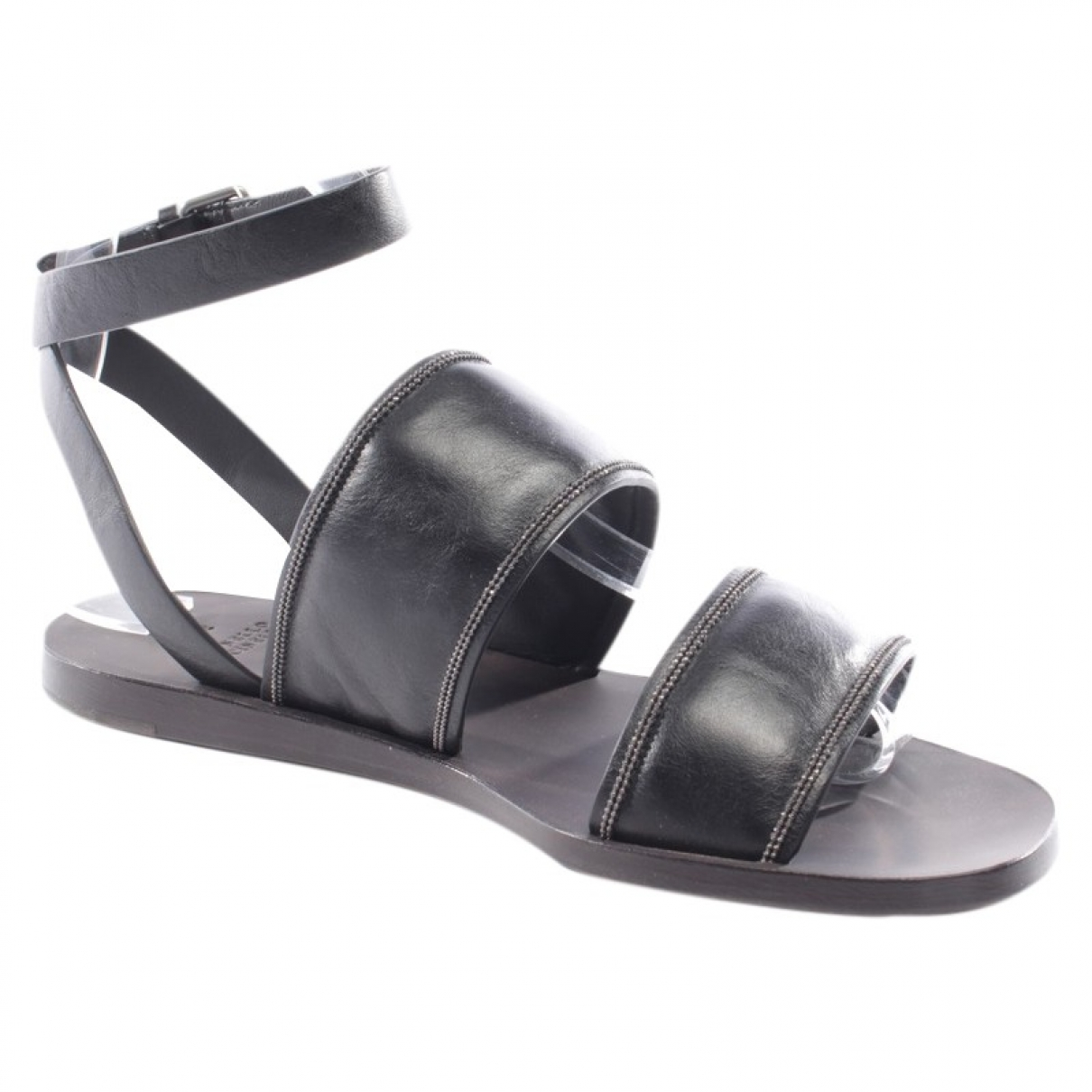 Brunello Cucinelli - Sandales   pour femme en cuir - noir