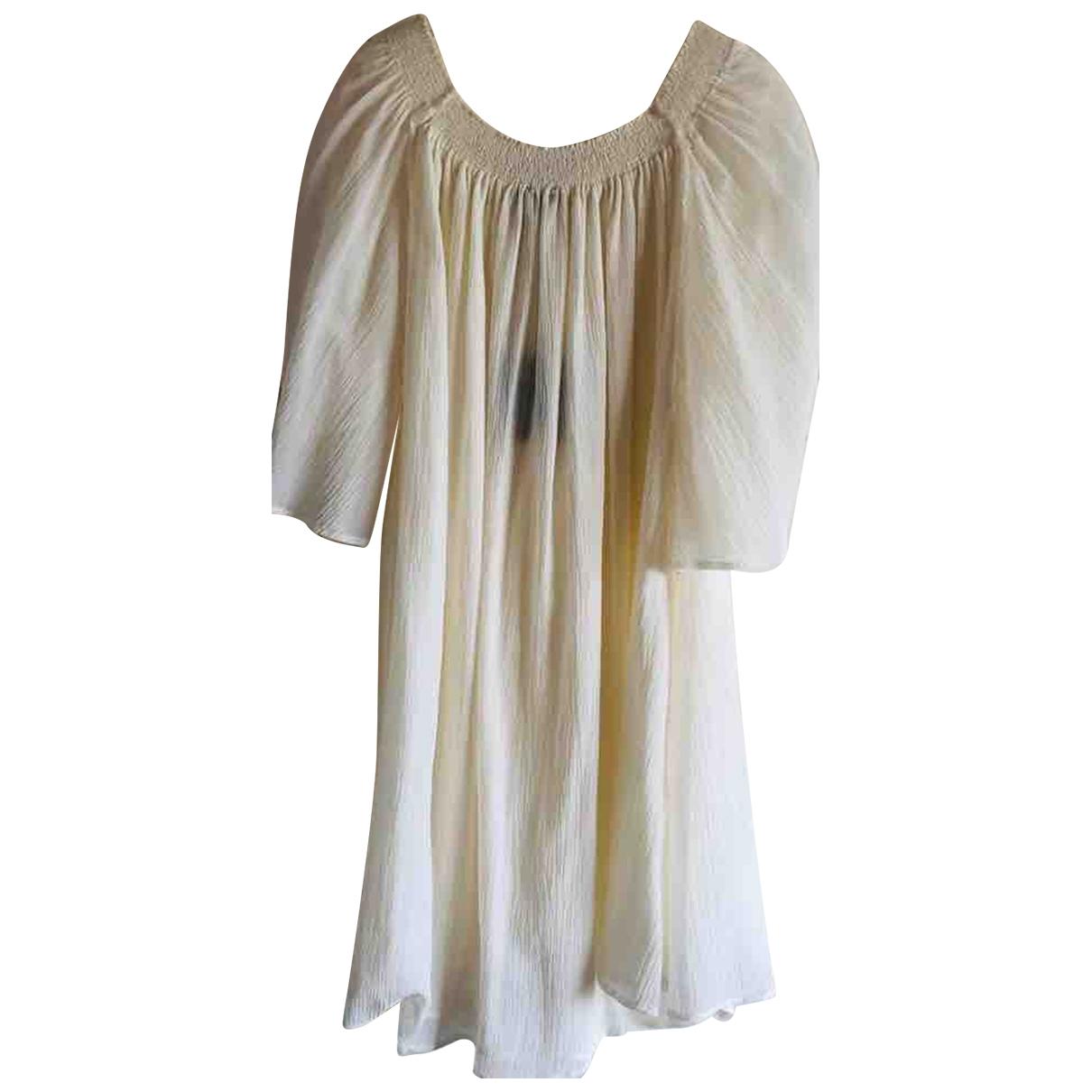 Ballantyne \N Kleid in  Weiss Baumwolle