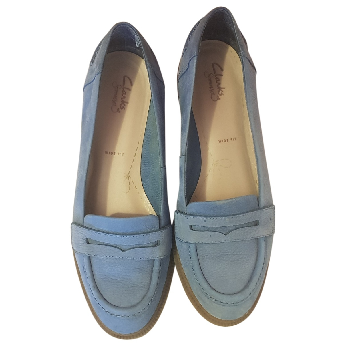 Clarks \N Leather Flats for Women 39.5 EU