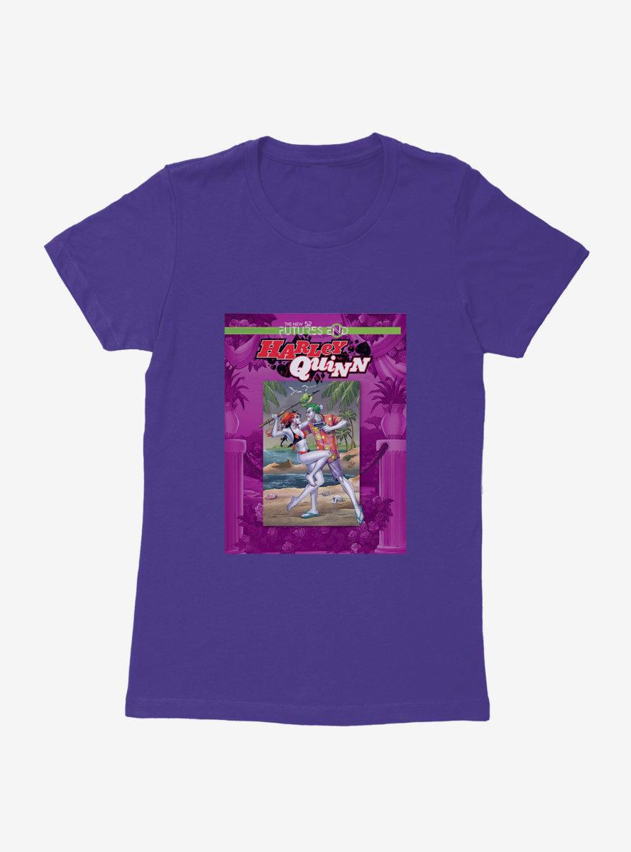DC Comics Batman The Joker And Harley Quinn Beach Comic Womens T-Shirt
