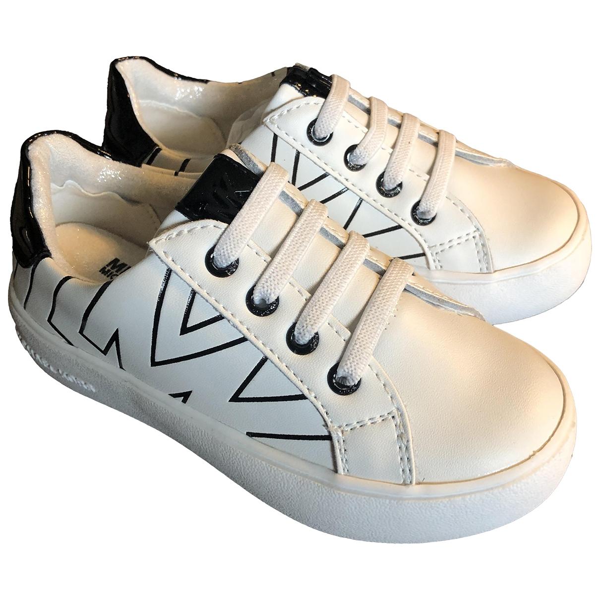 Michael Kors \N White Leather Trainers for Kids 24 EU