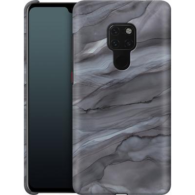 Huawei Mate 20 Smartphone Huelle - Black Watercolour Marble von Becky Starsmore