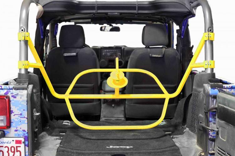 Steinjager J0046572 Tire Carrier Wrangler JK 2007-2018 2 Door Internal Neon Yellow