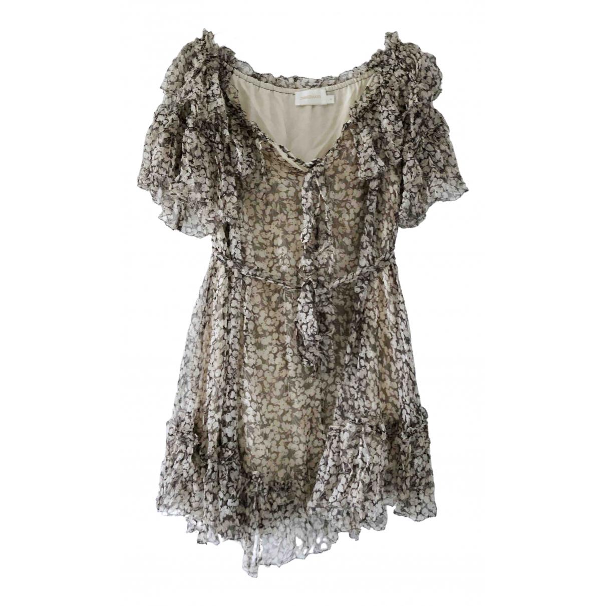 Zimmermann N Grey Silk dress for Women 0 0-5