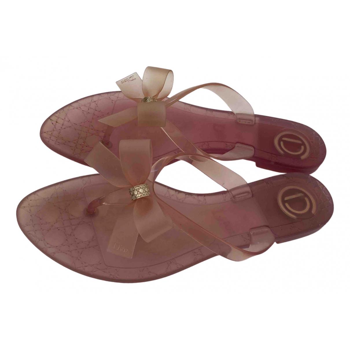 Dior \N Sandalen in  Rosa Kunststoff