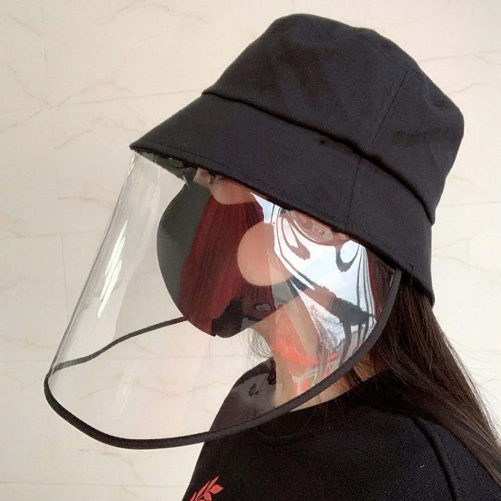 Black Anti-droplet Hat With Mask Protective Hat Special Protective Equipment Special Customized