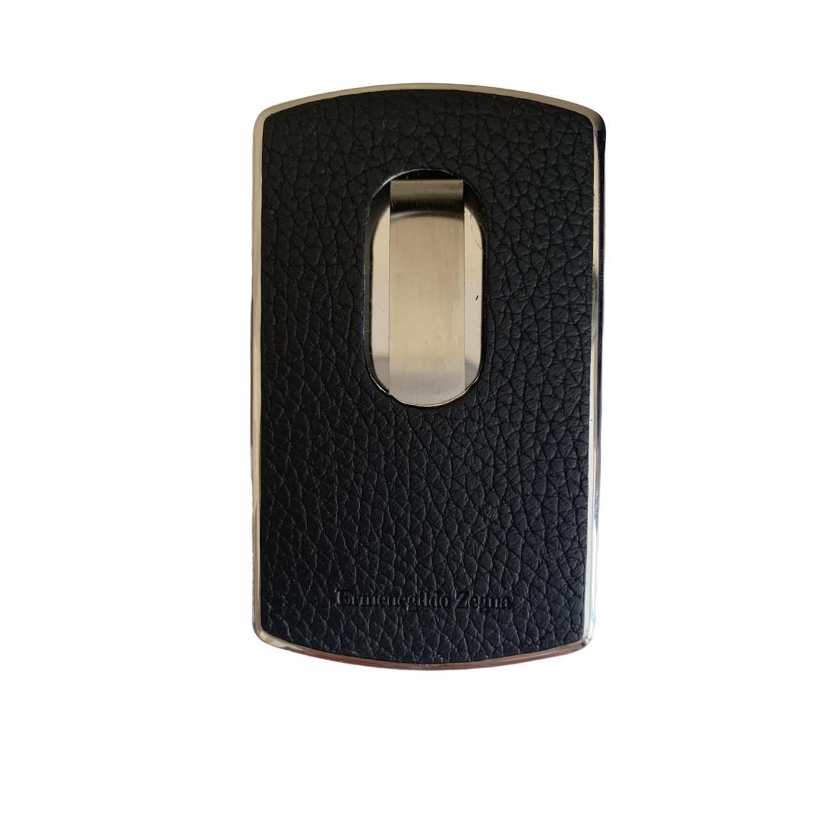 Ermenegildo Zegna \N Navy Leather Small bag, wallet & cases for Men \N