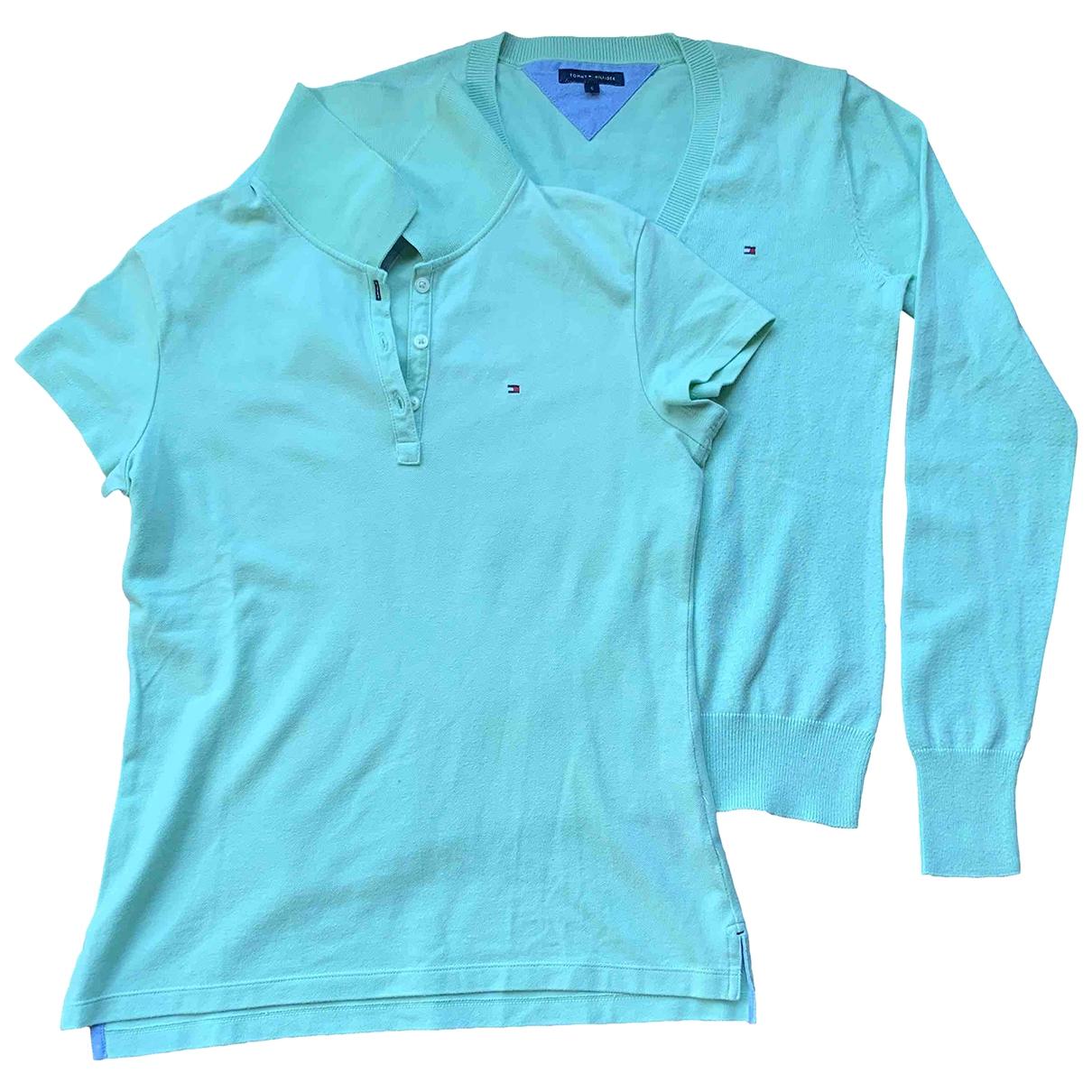 Tommy Hilfiger - Pull   pour femme en coton - vert