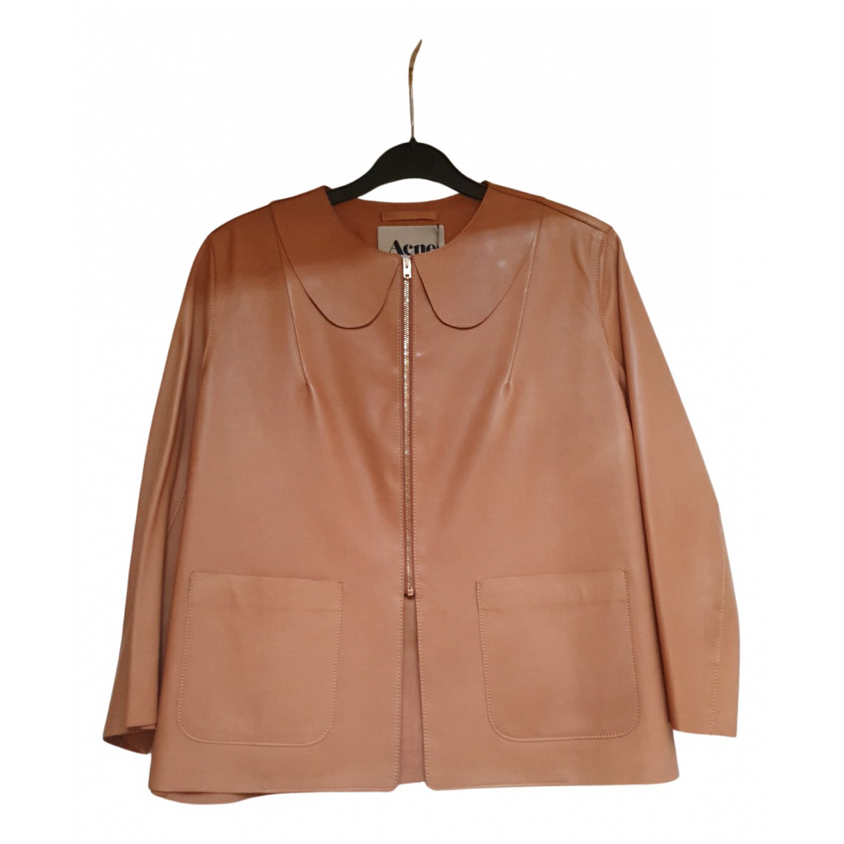 Acne Studios N Brown Leather Leather jacket for Women 36 FR