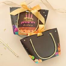 1pc Slogan Graphic Birthday Gift Bag
