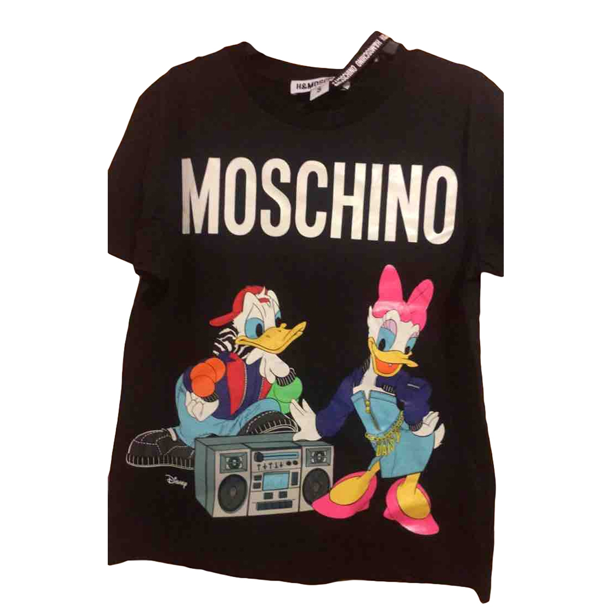 Moschino For H&m - Top   pour femme en coton - noir