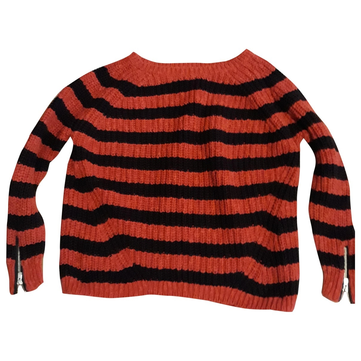 Maje \N Red Cotton Knitwear for Women One Size FR