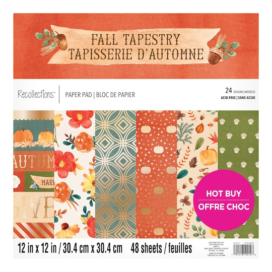 Fall Tapestry Paper Pad By Recollections™, 12