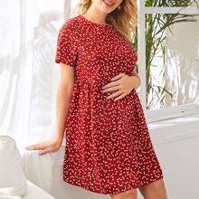 Maternity Kleid mit Herzen Muster