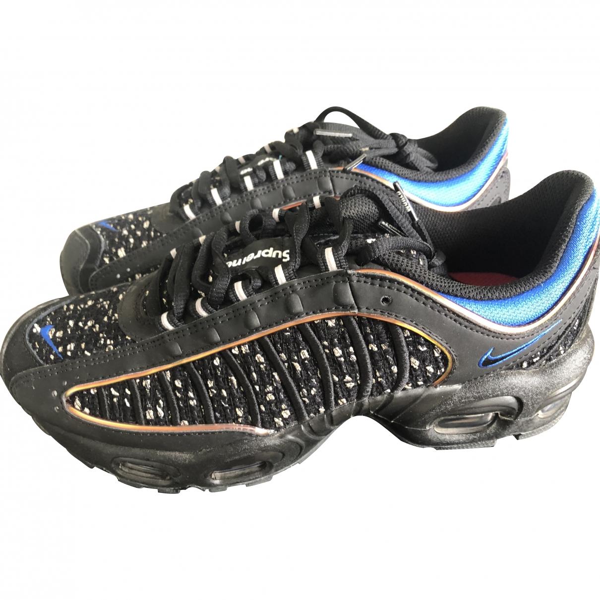 Nike X Supreme \N Black Leather Trainers for Men 41 EU