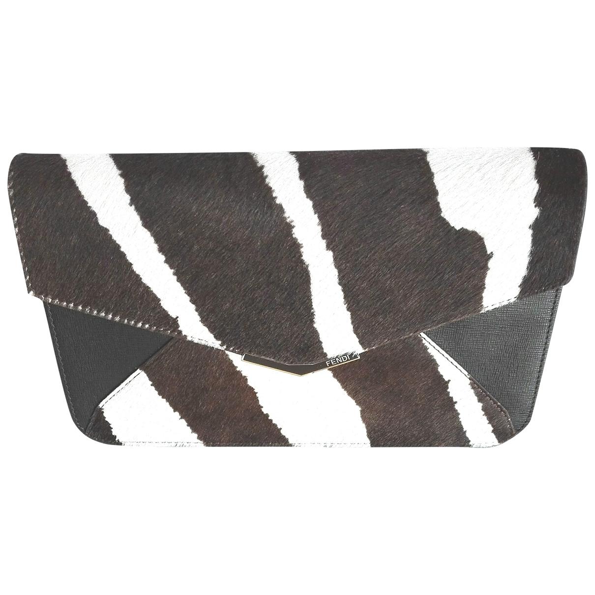 Fendi \N Multicolour Pony-style calfskin Clutch bag for Women \N