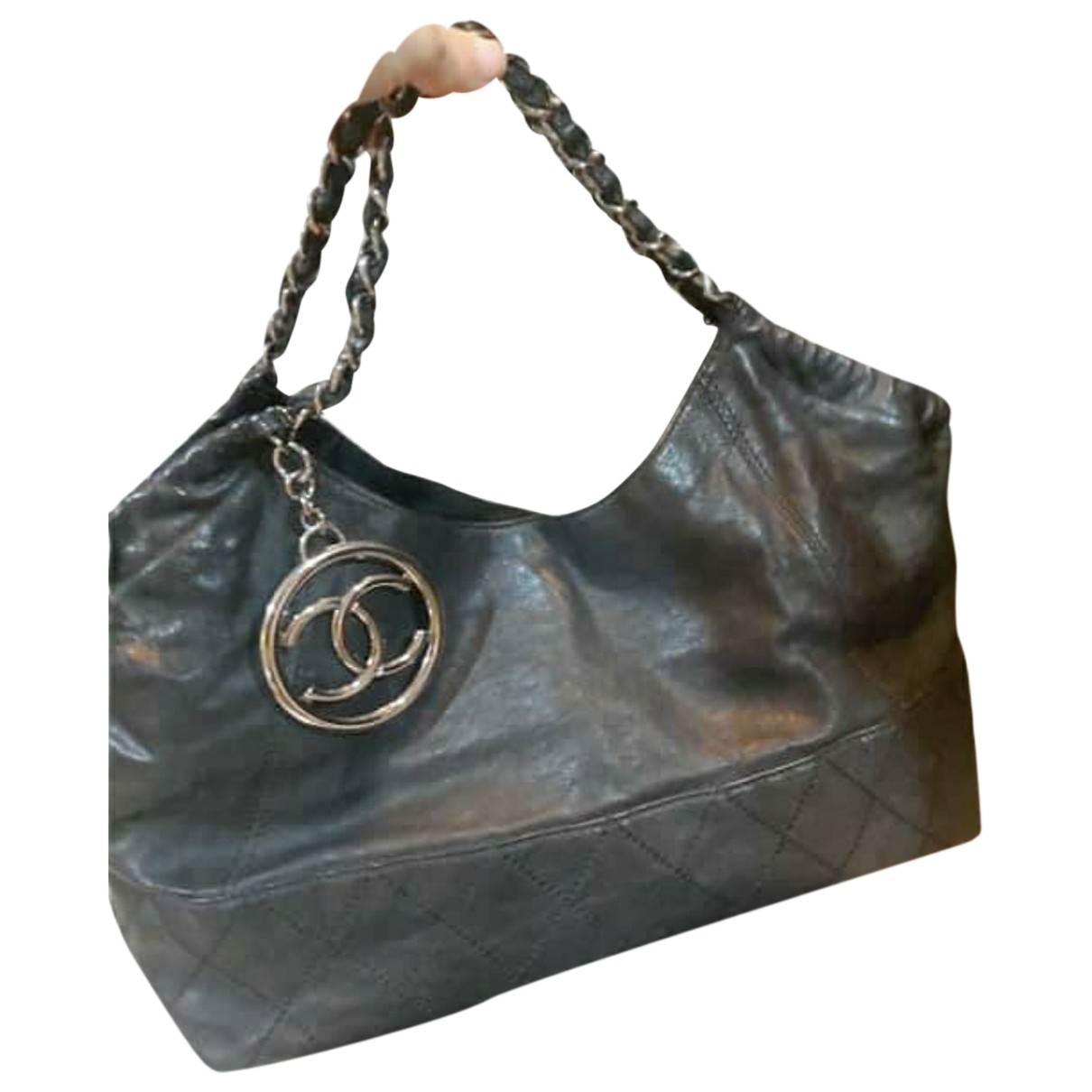 Chanel Coco Cabas Black Leather handbag for Women \N