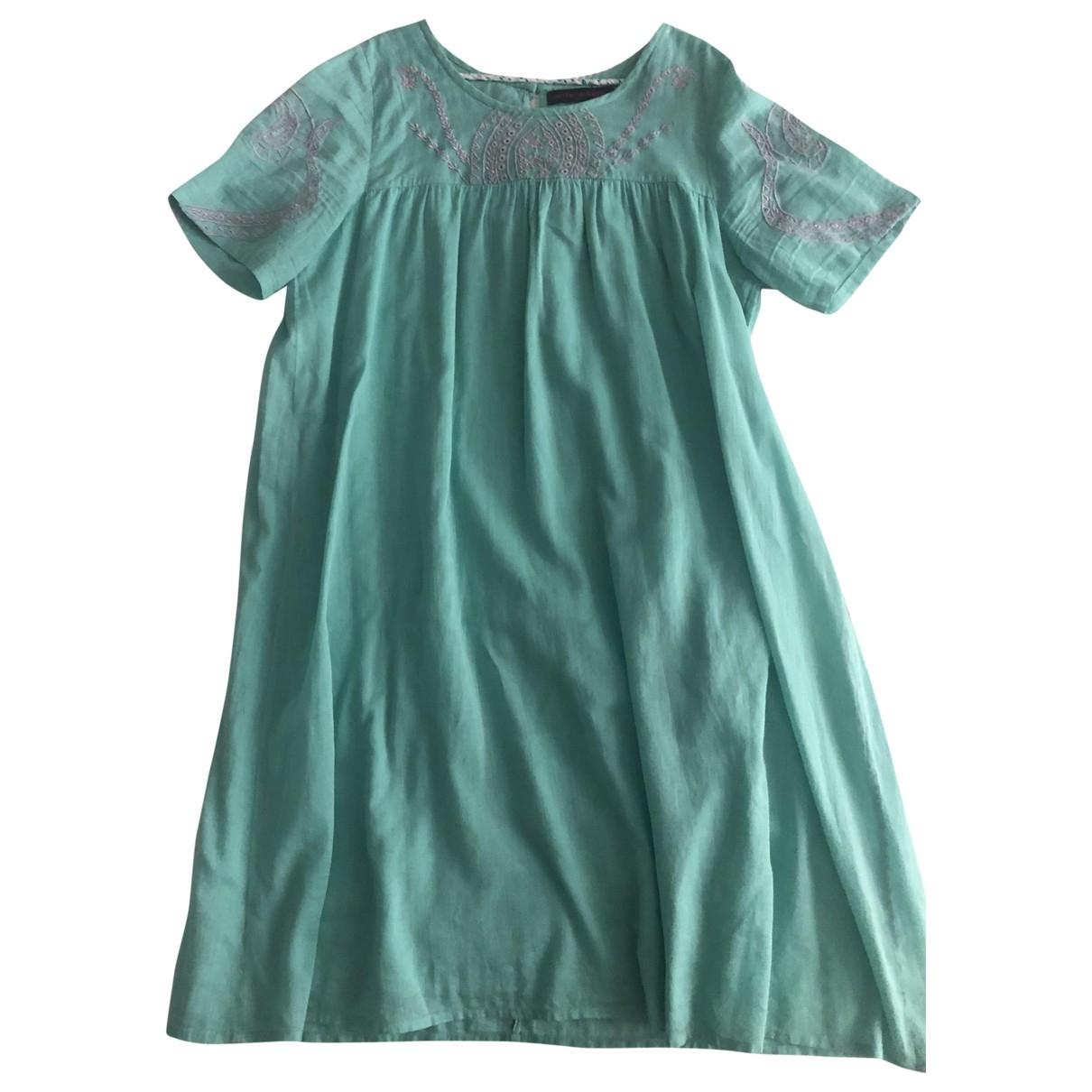 Antik Batik \N Turquoise Cotton dress for Kids 12 years - XS FR