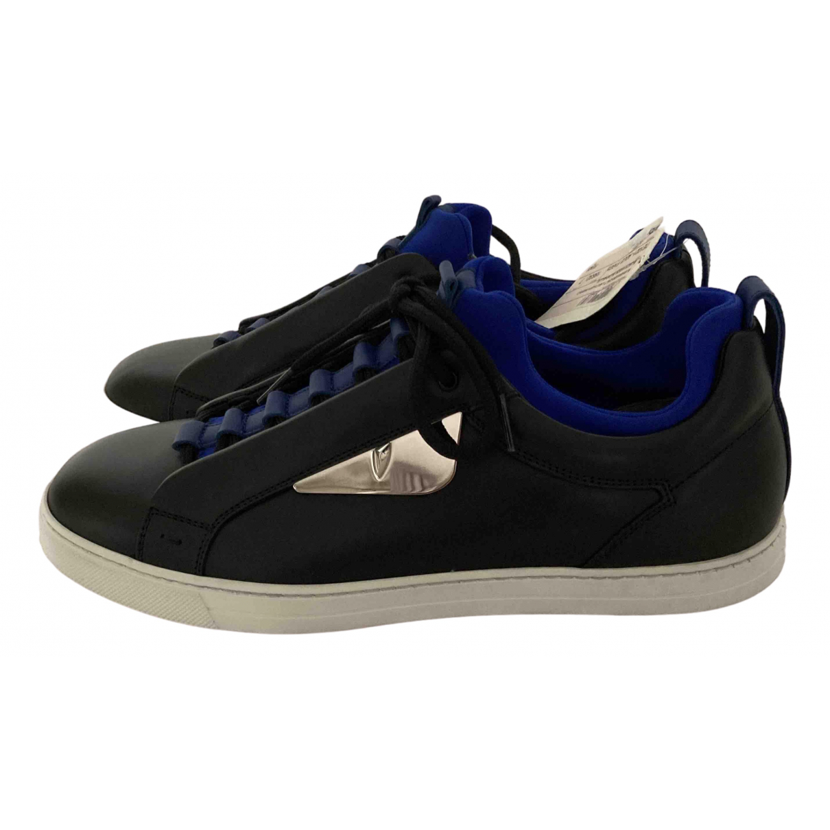 Fendi N Black Leather Trainers for Men 7 UK