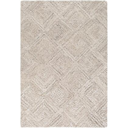 Montclair MTC-2305 9' x 12' Rectangle Global Rug in Light Gray  Dark Brown  Ivory