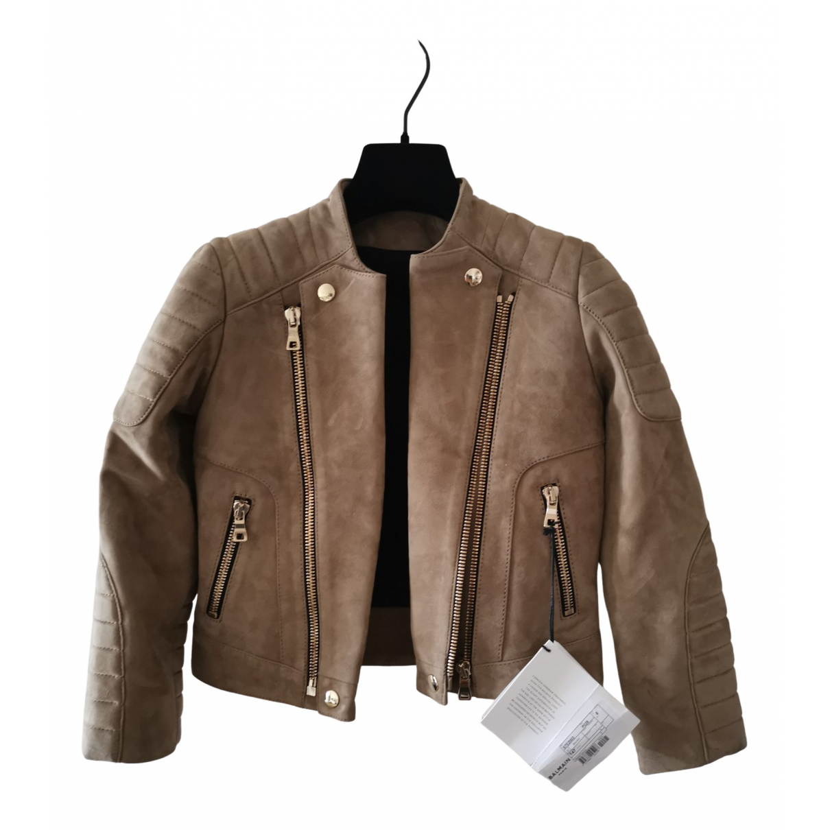 Balmain \N Beige Leather jacket & coat for Kids 8 years - until 50 inches UK
