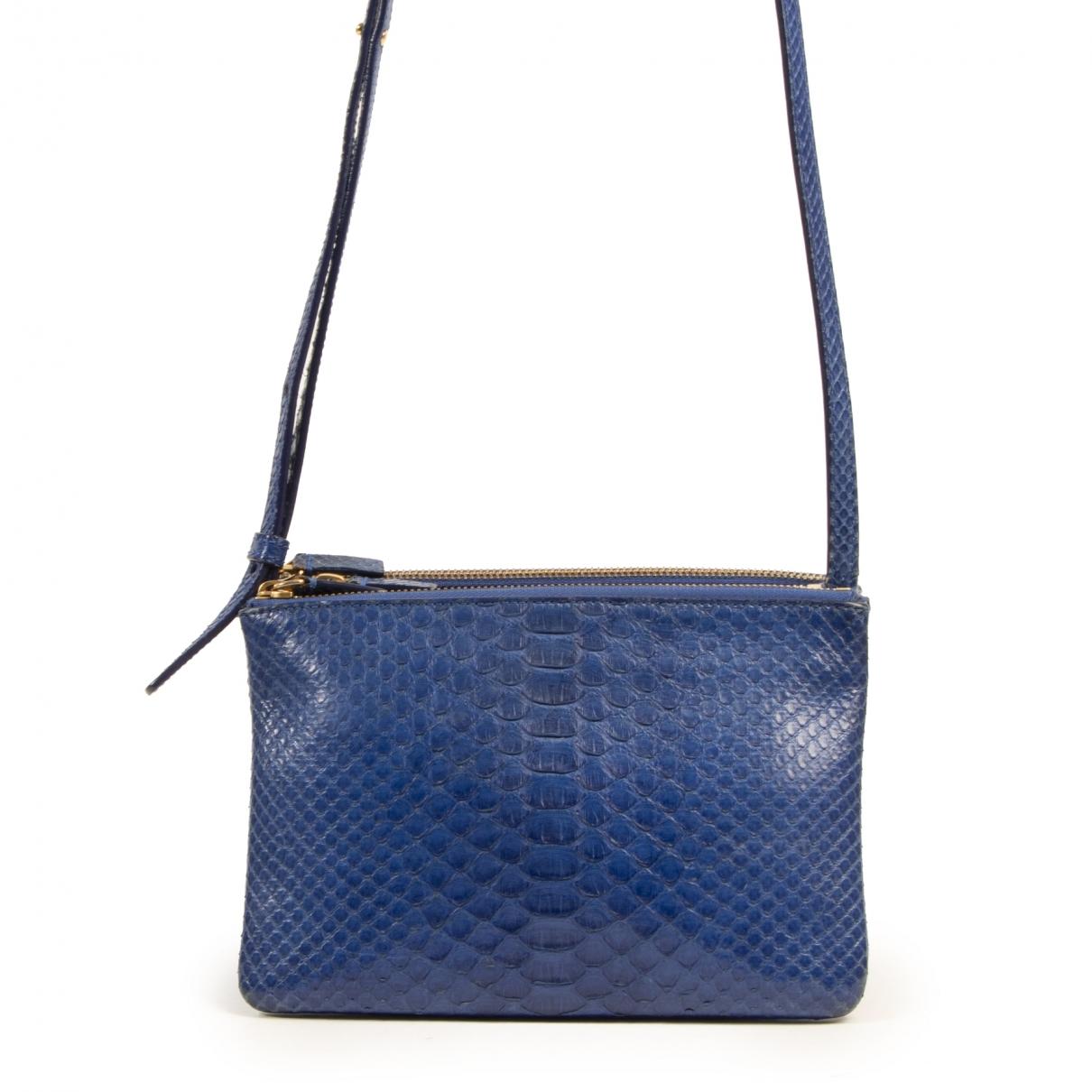 Celine Trio Handtasche in  Blau Python