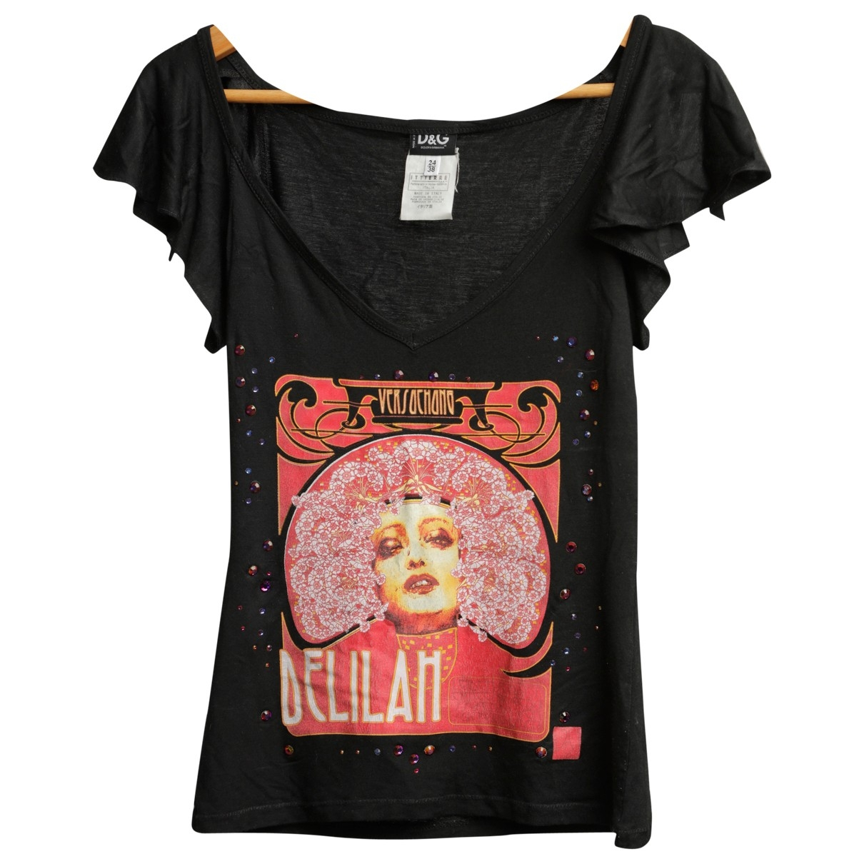 Dolce & Gabbana \N Top in  Schwarz Baumwolle