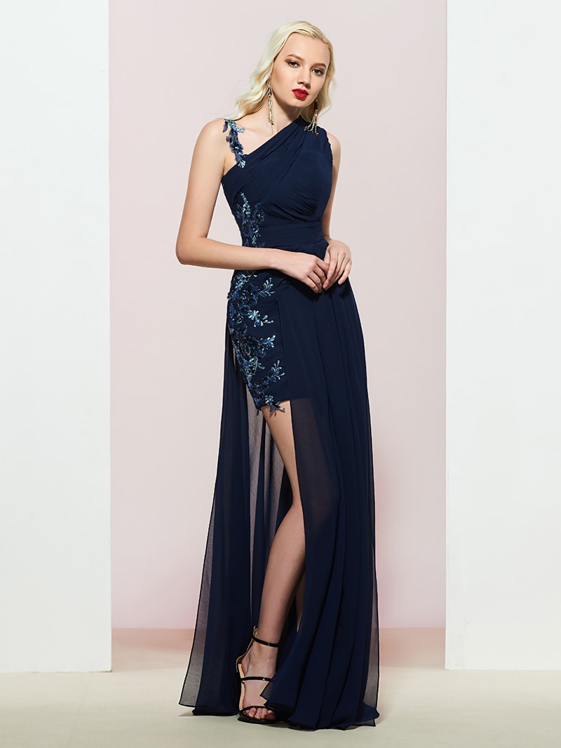 Ericdress Sleeveless Straps Appliques A-Line Prom Dress
