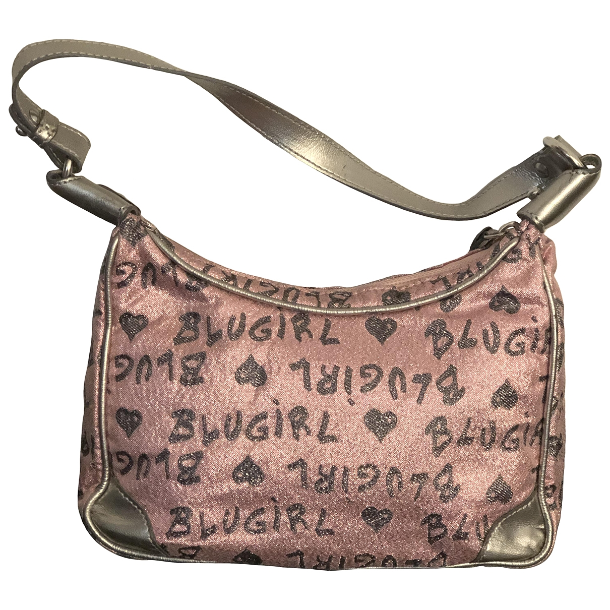 Blumarine - Pochette   pour femme en toile - rose